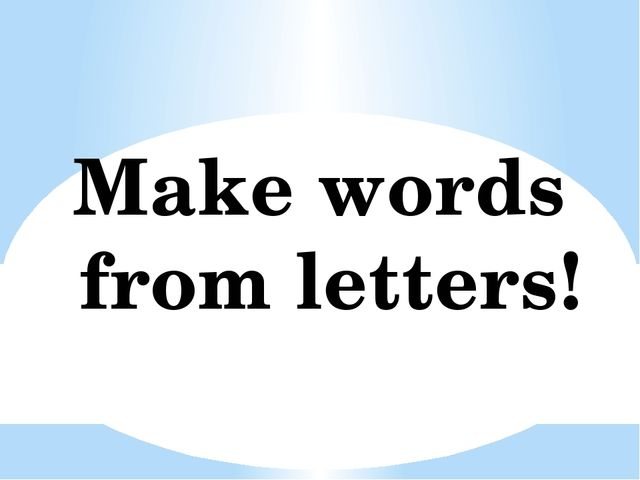 Make words from letters!