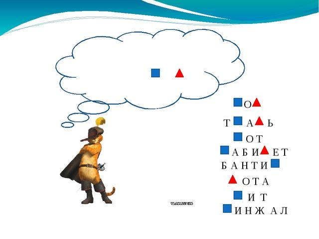 Расшифруй и запиши слова. Вот тебе подсказка К - , Н- . О Т А Ь О Т А Б И Е Т...