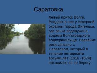 Саратовка Левый приток Волги. Впадает в нее у северной окраины города Энгельс