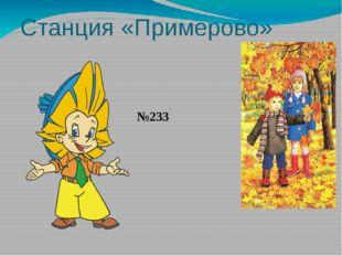 Станция «Примерово» №233
