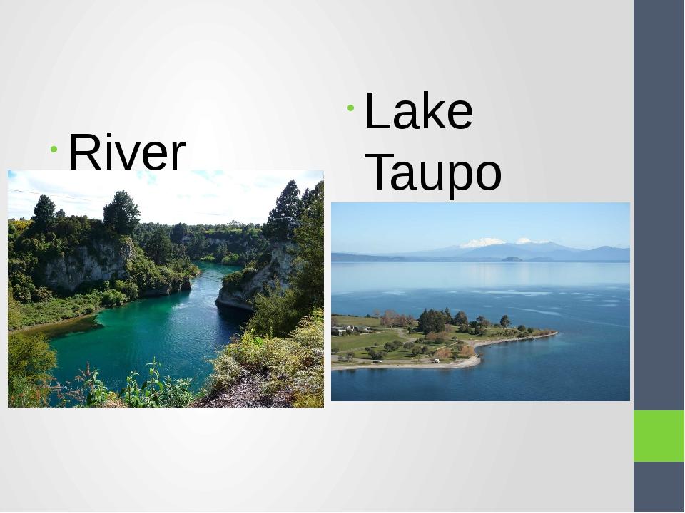 River Waikato Lake Taupo