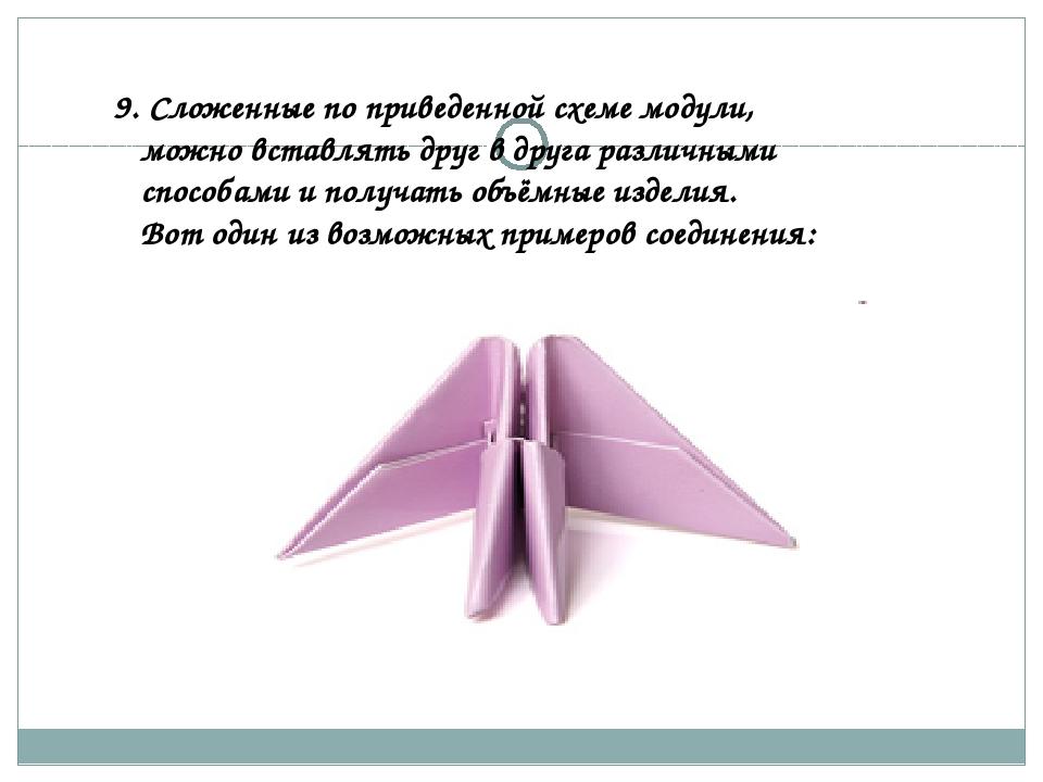 9. Сложенные по приведенной схеме модули, можно вставлять друг в друга разли...