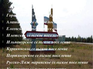 Административное деление Городское поселение Параньга Алашайское сельское пос