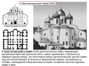 ВНОВГОРОДСКОЙ СОФИИ(1045) дополнительные нефы, окружающие центральную крест