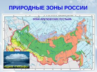 ЗОНА АРКТИЧЕСКИХ ПУСТЫНЬ ПРИРОДНЫЕ ЗОНЫ РОССИИ Льдина «Географы»