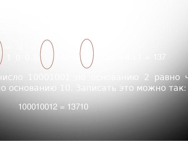 Проверка домашнего задания 1 0 0 0 1 0 0 1 1 2 4 8 16 32 64 128 = 128 + 8 1 +...
