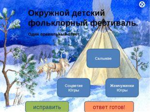 Окружной детский фольклорный фестиваль. Один правильный ответ. Салыкве Жемчуж