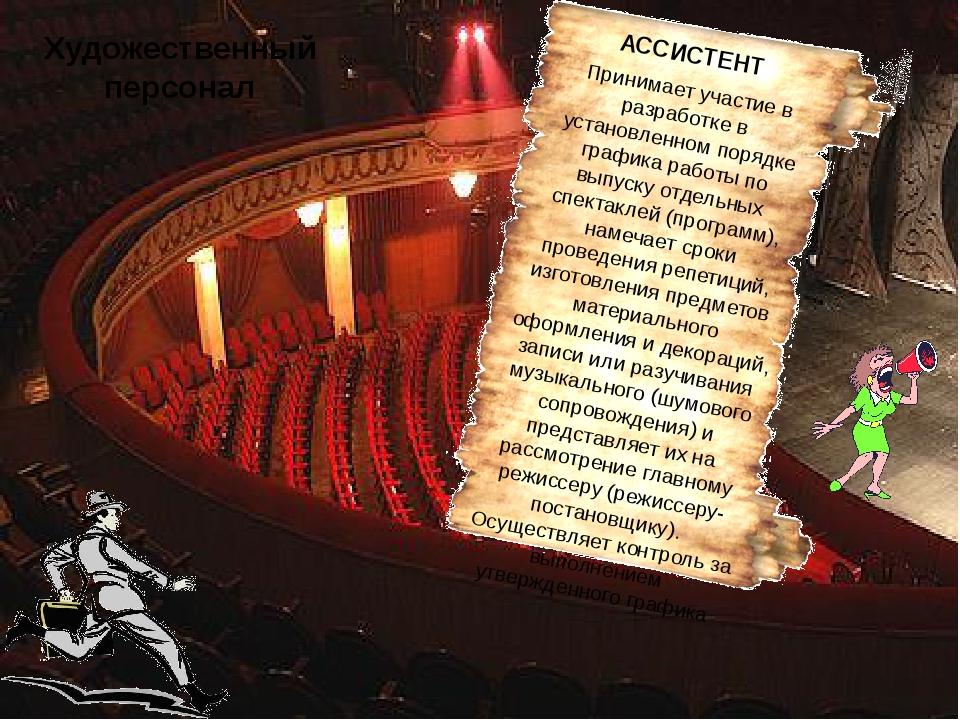 Художественный персонал АССИСТЕНТ Принимает участие в разработке в установлен...