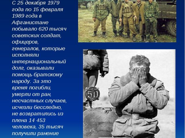 Наши воины. С 25 декабря 1979 года по 15 февраля 1989 года в Афганистане побы...