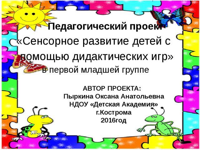 Педагогический проект «Сенсорное развитие детей с помощью дидактических игр»...