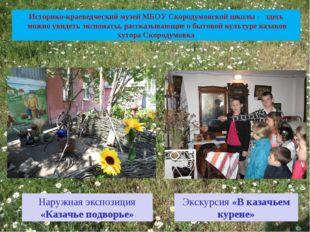 Историко-краеведческий музей МБОУ Скородумовской школы - здесь можно увидеть