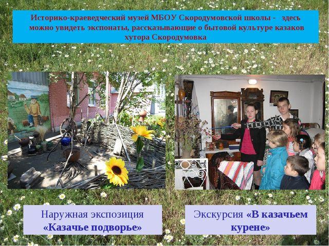 Историко-краеведческий музей МБОУ Скородумовской школы - здесь можно увидеть...