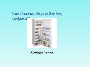 Что является «домом» для всех продуктов? Холодильник
