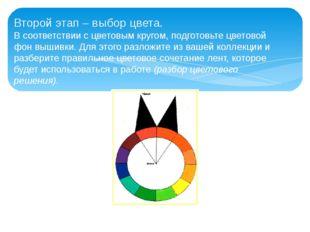 Второй этап – выбор цвета. В соответствии с цветовым кругом, подготовьте цвет