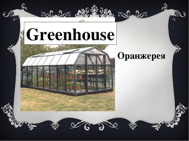 Greenhouse Оранжерея