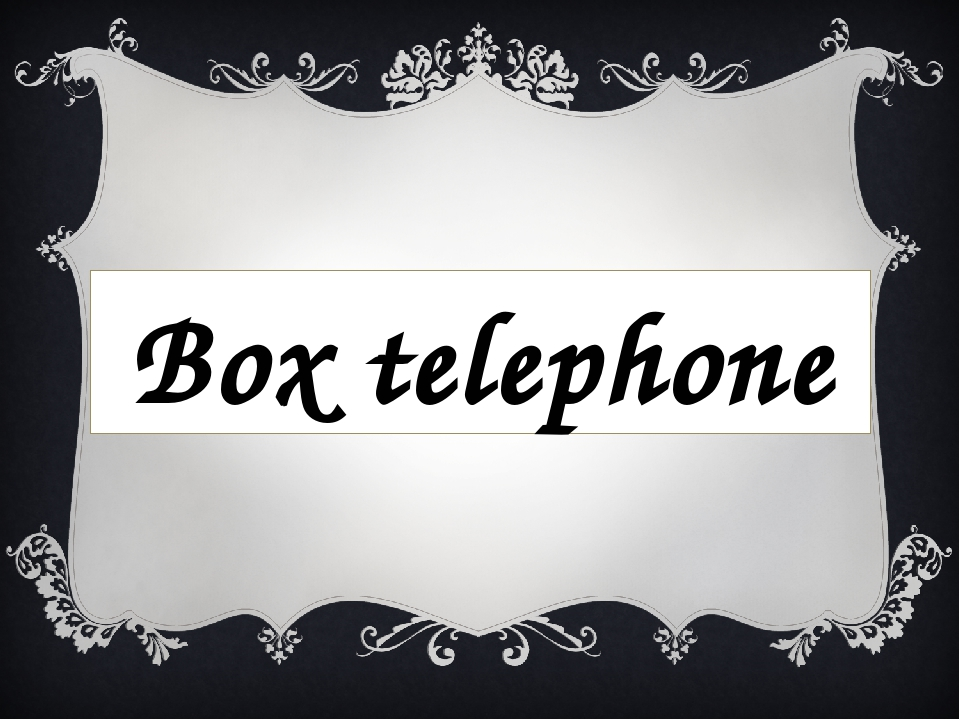 Box telephone