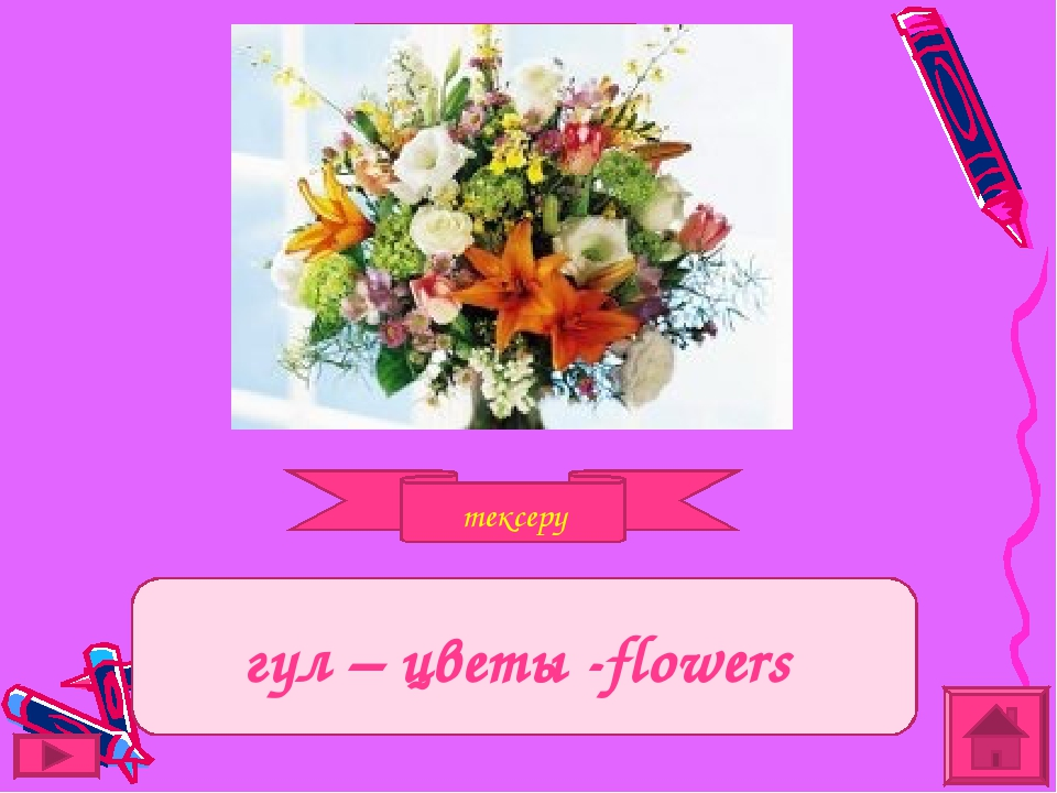 тексеру Задание гүл – цветы -flowers