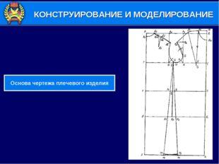 КОНСТРУИРОВАНИЕ И МОДЕЛИРОВАНИЕ Основа чертежа плечевого изделия