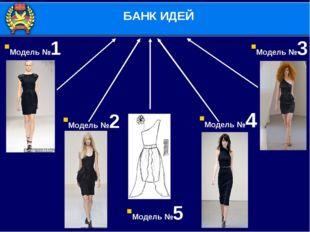 Модель №2 Модель №3 Модель №4 Модель №5 Модель №1 БАНК ИДЕЙ