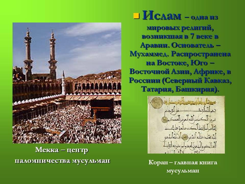 Природные и антропогенные источники загрязнения среды Реферат религия мира ислам