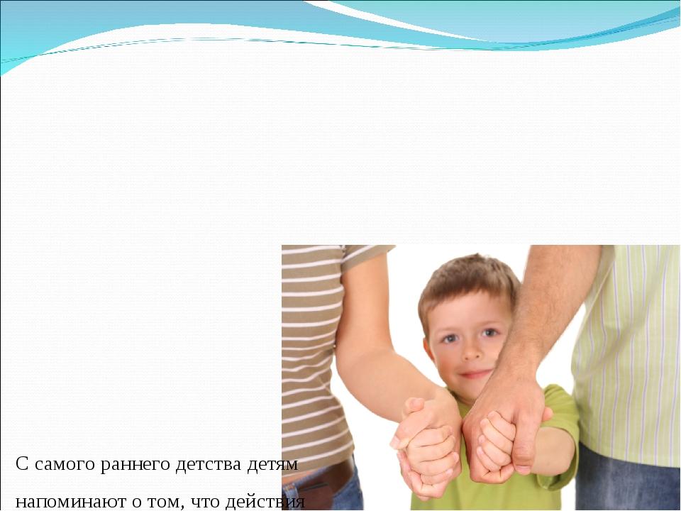 С самого раннего детства детям напоминают о том, что действия необходимо обд...