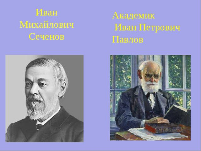 Иван Михайлович Сеченов Академик Иван Петрович Павлов