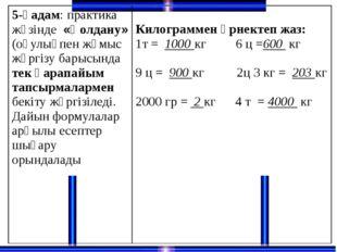 5-қадам: практика жүзінде«Қолдану»(оқулықпен жұмыс жүргізу барысындатек қара