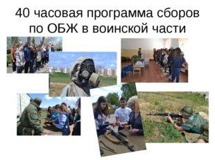 40 часовая программа сборов по ОБЖ в воинской части