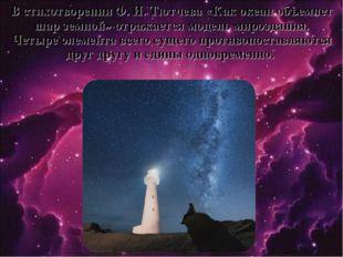 В стихотворении Ф. И. Тютчева «Как океан объемлет шар земной» отражается моде
