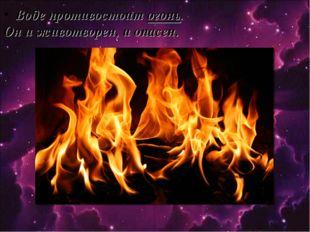 Воде противостоит огонь. Он и животворен, и опасен.