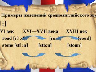 6. Примеры изменений среднеанглийского звука [ɔ:] XVІ век  XVІ—XVІІ века X