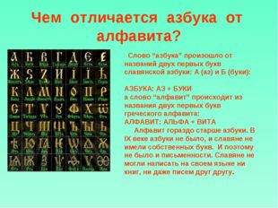 """Чем отличается азбука от алфавита? Слово """"азбука"""" произошло от названий дву"""
