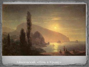 Айвазовский. «Ночь в Крыму» Айвазовский. Ночь в Крыму