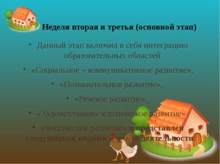 Данный этап включил в себя интеграцию образовательных областей «Социальное –