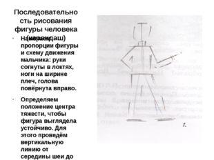 Последовательность рисования фигуры человека (карандаш) Намечаем пропорции фи
