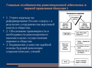 Главные особенности революционной идеологии в период правления Николая I. 1.