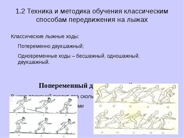 1.2 Техника и методика обучения классическим способам передвижения на лыжах К...
