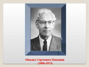 Михаил Сергеевич Навашин (1896-1973)