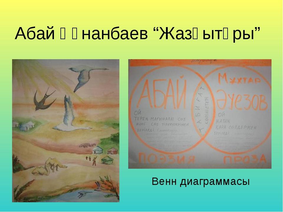 """Абай Құнанбаев """"Жазғытұры"""" Венн диаграммасы"""