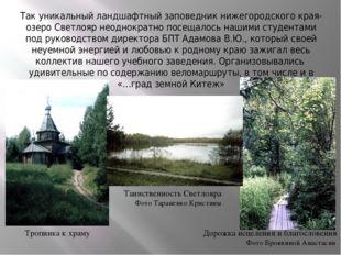 Так уникальный ландшафтный заповедник нижегородского края- озеро Светлояр нео