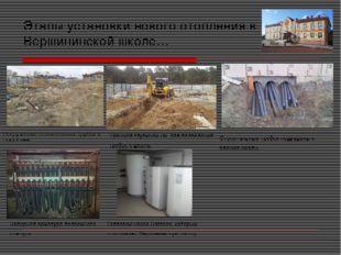 Этапы установки нового отопления в Вершининской школе… Погружение отопительны
