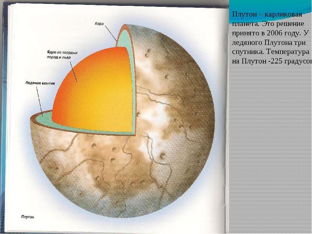 Плутон – карликовая планета. Это решение принято в 2006 году. У ледяного Плут...