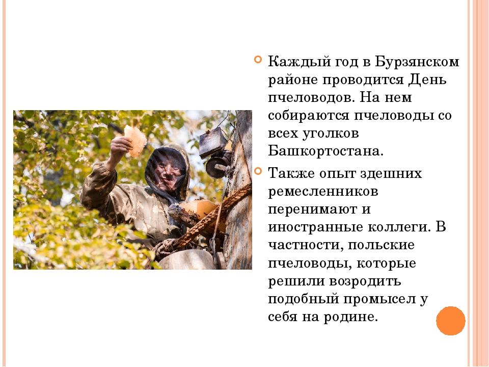 Каждый год в Бурзянском районе проводится День пчеловодов. На нем собираются...