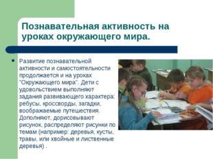 Познавательная активность на уроках окружающего мира. Развитие познавательной