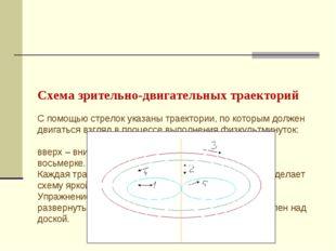 Схема зрительно-двигательных траекторий С помощью стрелок указаны траектории