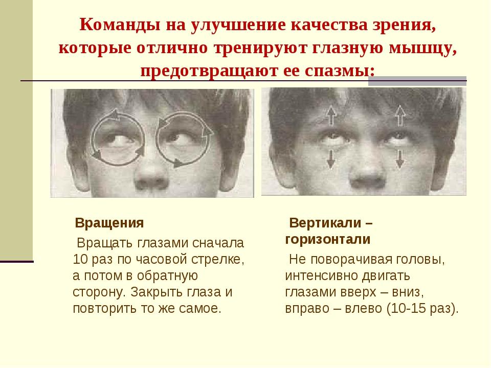Команды на улучшение качества зрения, которые отлично тренируют глазную мышц...