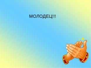МОЛОДЕЦ!!!