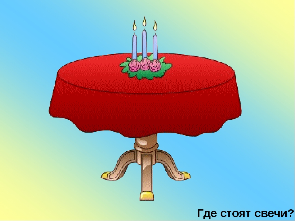Где стоят свечи?
