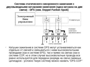 Система статического синхронного зажигания с двухвыводными катушками зажигани