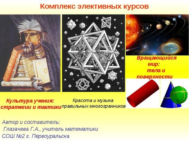 Комплекс элективных курсов Автор и составитель: Глазачева Г.А., учитель матем...